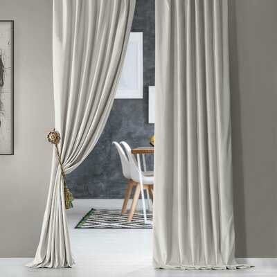 Creola Solid Color Room Darkening Thermal Rod Pocket Single Curtain Panel - AllModern