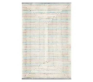 Concentric Rainbow Rug, 5x8', Multi - Pottery Barn Kids