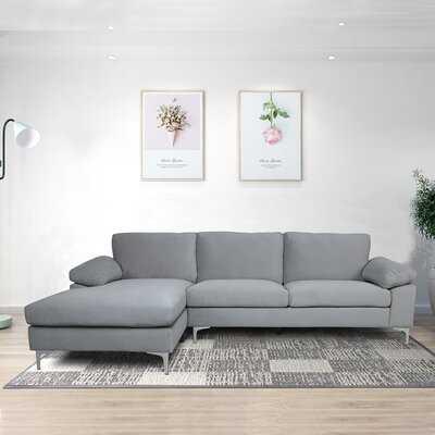 Sectional Sofa Velvet Left Hand Facing - Wayfair