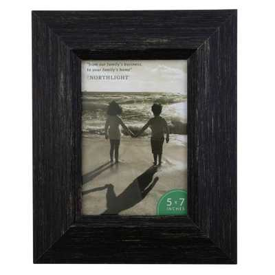 """Northlight 10"""" Distressed Finish Rectangular 5"""" x 7"""" Photo Picture Frame - Black - Home Depot"""