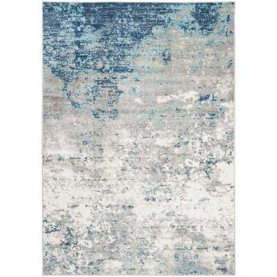 N'Keal Light Gray/Blue Rug - Wayfair