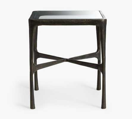 "Bodhi 20"" Square Metal End Table, Bronze - Pottery Barn"