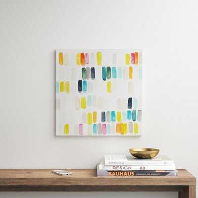 'Bright Swatches I' Painting on Canvas - AllModern
