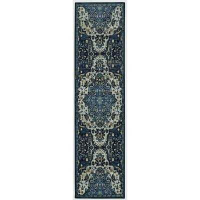 Engler Oriental Tufted Denim Blue Area Rug, 2;x8' - Wayfair