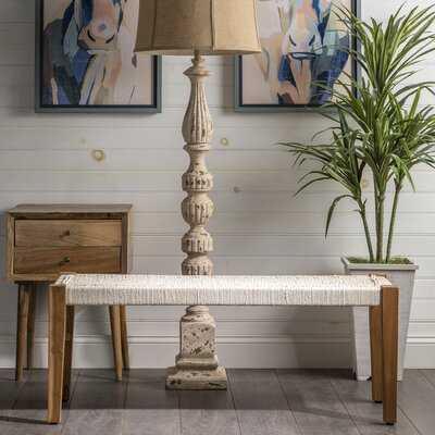 Peraza Wood Bench - Wayfair
