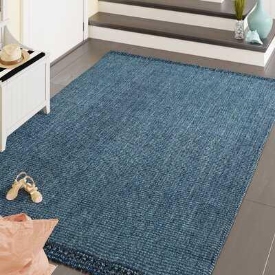 Cabott Handmade Flatweave Jute/Sisal Blue Area Rug - Wayfair