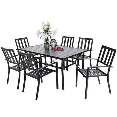 Lugent 7 Piece Dining Set - Wayfair