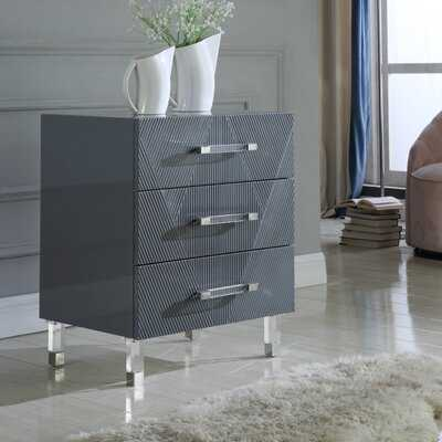 Ekstrom 3 Drawer Nightstand - Wayfair