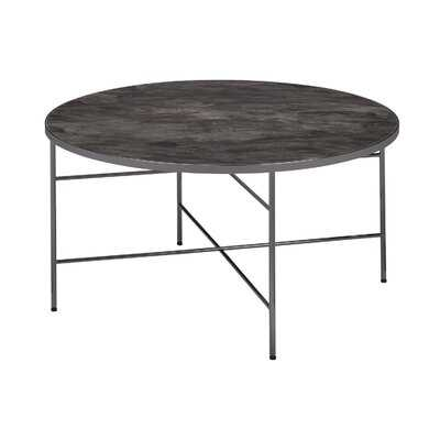Round Coffee Table, Glass & Black Nickel - Wayfair