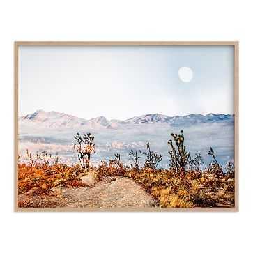 "Desert Super Moon, Natural Wood Frame, 30""x40"" - West Elm"
