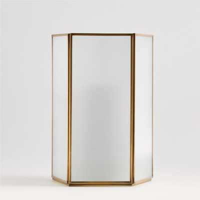 Andelyn Medium Frosted Glass Hurricane - Crate and Barrel