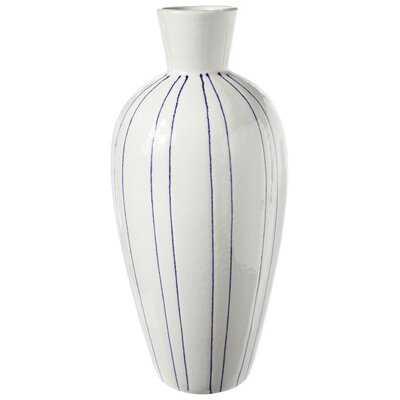 Goetz White Ceramic Table Vase - Wayfair