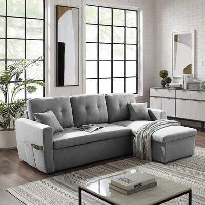 "Daveya 86.6"" Reversible Sleeper Sofa and Chaise - Wayfair"