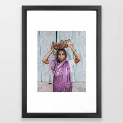 Hampi, India Iv Framed Art Print by Luke Gram - Vector Black - SMALL-15x21 - Society6