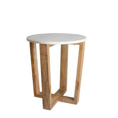 Marble Top Cross Legs End Table - Wayfair