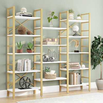 "Ingimar 70.86"" H x 69.29"" W Steel Library Bookcase - Wayfair"