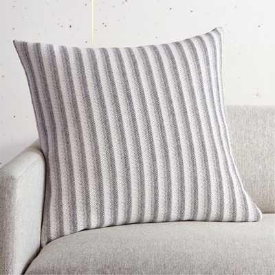 "23"" Rhone Stripe Pillow with Down-Alternative Insert - CB2"