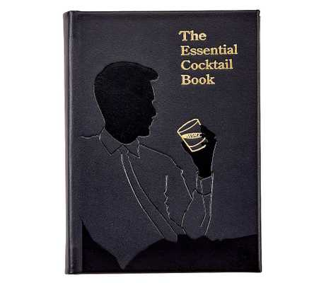 Essential Cocktail Leather Book, Black - Pottery Barn