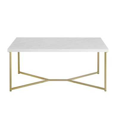 Devito Cross Legs Coffee Table - Wayfair