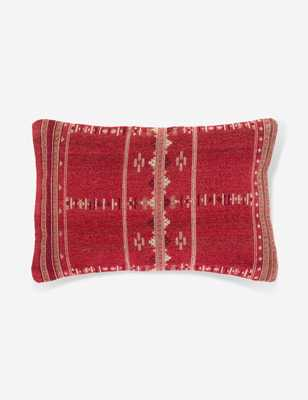 "Matilde Lumbar Pillow, Red 14"" x 22"" - Lulu and Georgia"