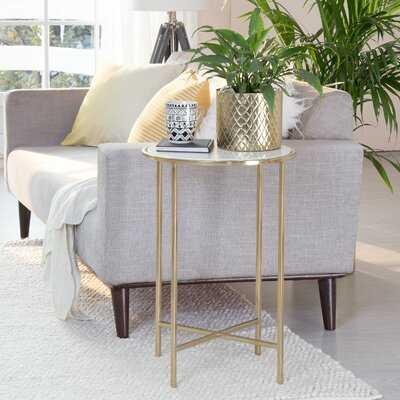 Fulmer Marble Top End Table - Wayfair