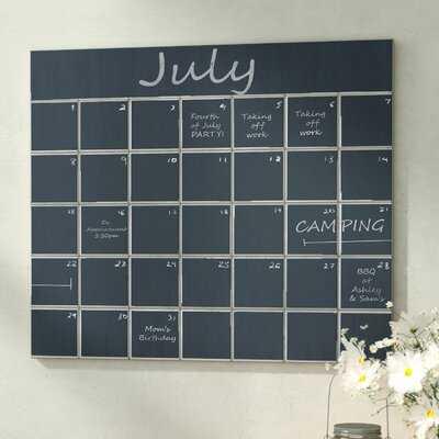 Calendar Wall Mounted Chalkboard - Birch Lane