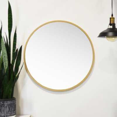 "30"" x 30"" Gold Clique Modern and Contemporary Wall Mounted Mirror - Wayfair"