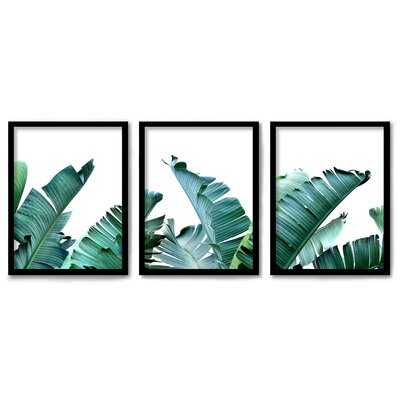 Americanflat 3 Piece Framed Triptych Tropical Palms By Tanya Shumkina - Wayfair