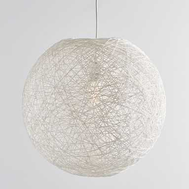 Woven Globe Chandelier, White - Pottery Barn Teen