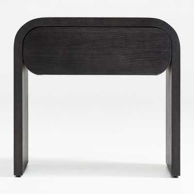 Cortez Charcoal Floating Nightstand - Crate and Barrel