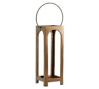 Danika Brass Lantern, Small - Pottery Barn