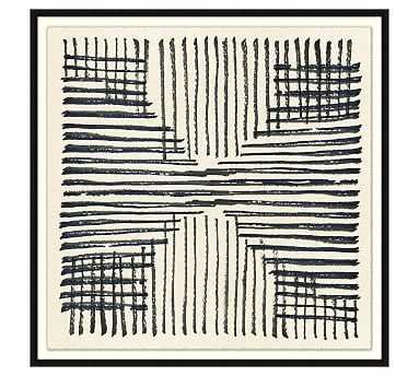 """Sandya Textile 2 Framed Canvas, 40"""" x 40"""" - Pottery Barn"""