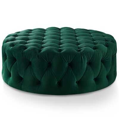 "McMullen 41.75"" Velvet Tufted Round Cocktail Ottoman - Wayfair"