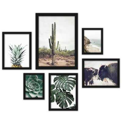 Southwest 6 Piece Framed Graphic Art Print Set - Wayfair