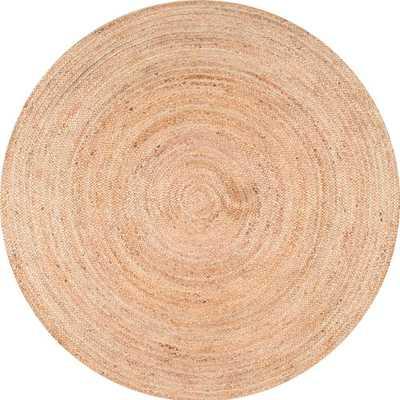 nuLOOM Rigo Chunky Loop Jute Tan 5ft. Round Rug, Natural - Home Depot