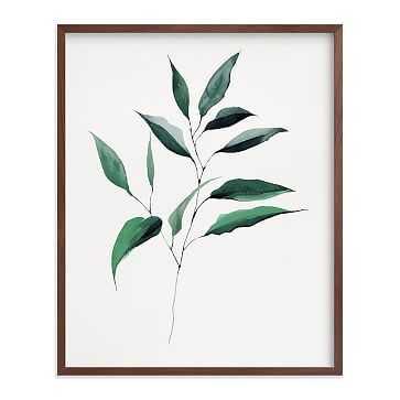 "Magnolia Foliage, Full Bleed 16""x20"", Walnut Wood Frame - West Elm"