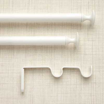 "Double 48-88"" White Curtain Rod - Crate and Barrel"