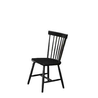 Glenvil Solid Wood Windsor Back Side Chair in Black - Wayfair