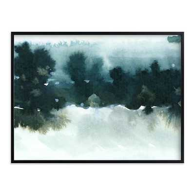 "Night Falling 2, 40""x30"", Black Wood Frame - West Elm"