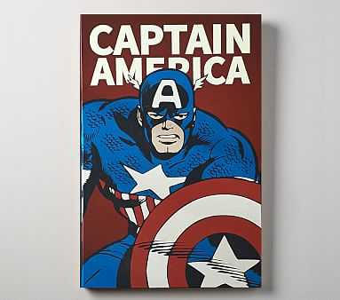 Marvel Super Heroes Glow In the Dark Art, Captain America - Pottery Barn Kids
