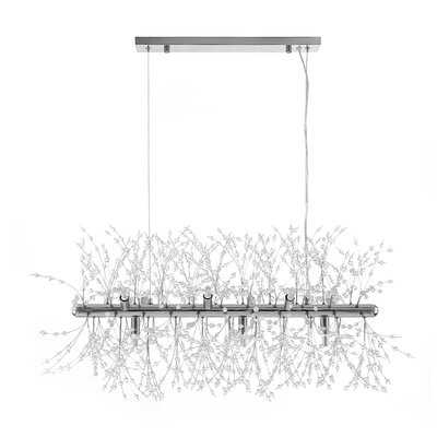 Euler 9 - Light Unique Modern Linear Chandelier with Beaded Accents - Wayfair