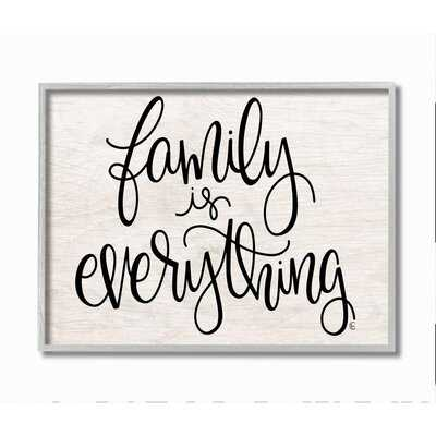 Family Is Everything Rustic Quote Farm Home Sign by Fearfully Made Creations - Graphic Art - Wayfair