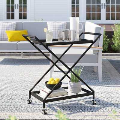 Poyen Outdoor Iron Bar Serving Cart - Wayfair