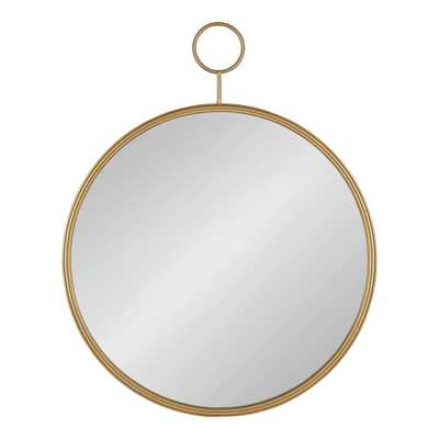 Kate and Laurel Chayce Round Gold Wall Mirror - Home Depot