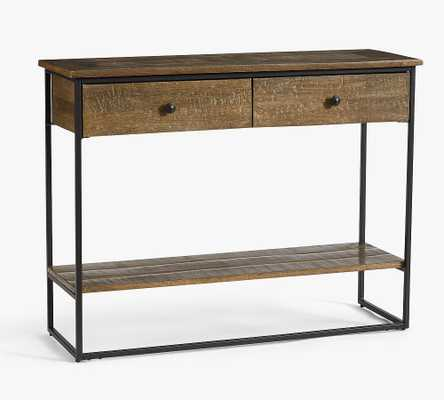 """Sanford 39.5"""" Console Table, Cobble Brown - Pottery Barn"""