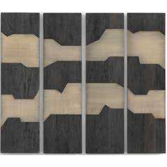 Antigua Wall Panel, Dark Totem, Set of 4 - High Fashion Home