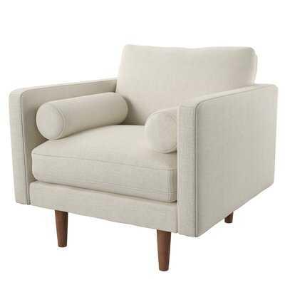 "Ackerly 27.5"" Armchair, Oatmeal Tweed, 33.5'' H x 35.75'' W x 35'' D - Wayfair"