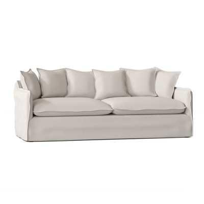"Moss Studio 84"" Round Arm Sofa Body Fabric: Oasis Oatmeal - Perigold"