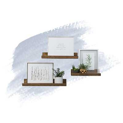 Frahm 3 Piece Pine Solid Wood Floating Shelf - Wayfair