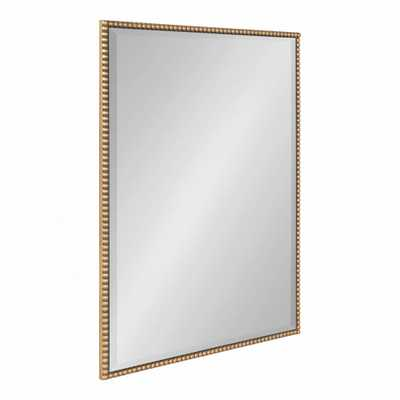 Kate and Laurel Gwendolyn Rectangle Gold Wall Mirror - Home Depot